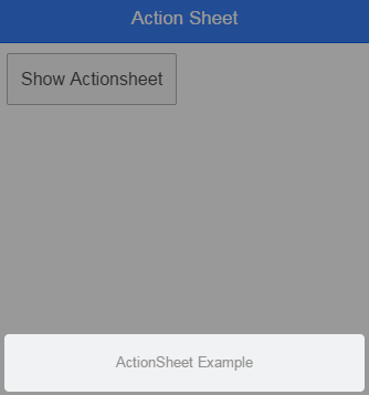 Action Sheet with title
