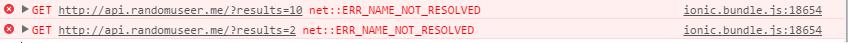 Developer Tools network error 2