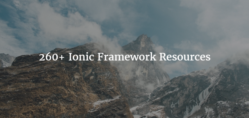 260+ Ionic Framework Resources